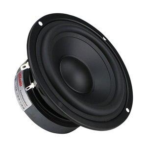 Image 4 - GHXAMP 4,5 дюймовый Hi Fi динамик средних басов 80 Вт 115 мм, динамик средних частот для книжной полки, автомобильный аудио резиновый край, 1 шт.