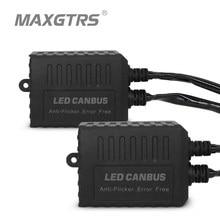 2x Super Canbus H1 H3 H4 H7 H8 H11 9005 9006 H13 Adapter Emc Waarschuwing Auto Led Decoder Canceller Koplamp mistlamp Ic Geen Fout