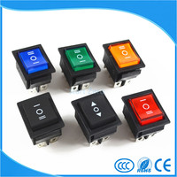 Rocker Switch Power Switch 3 Position 6 Pins With Light 16A 250VAC 20A 125VAC
