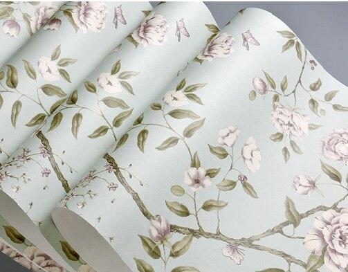 10 M haute qualité papier peint Mural arbre avec fleur blanche rouleau papier peint décoration papier peint papel de parede tapete chambre