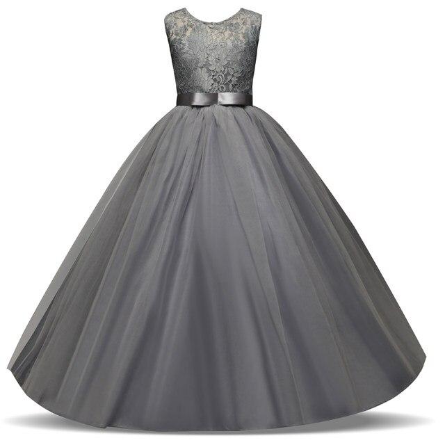 Online Shop Fancy Children Girls Dresses For Teenage Girl Long White ...