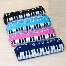 חדש יפה מוסיקלי פסנתר מקלדת קלמר כתיבה ספר משרד מוסיקה עט תיק תיבת אחסון בית הספר