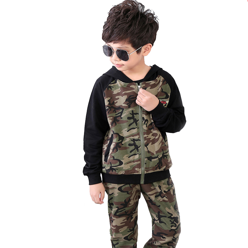 Children Clothing Sets For Boys Camouflage Sports Suits Autumn Kids Tracksuits Teenage Boys Sportswear 5 6 8 10 12 14 Years children clothing sets for teenage boys and girls camouflage sports clothing spring autumn kids clothes suit 4 6 8 10 12 14 year