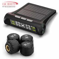 Smart Car TPMS Monitoraggio Della Pressione Dei Pneumatici Sistema di Energia solare di ricarica Digitale Display LCD Auto Sistemi di Allarme di Sicurezza
