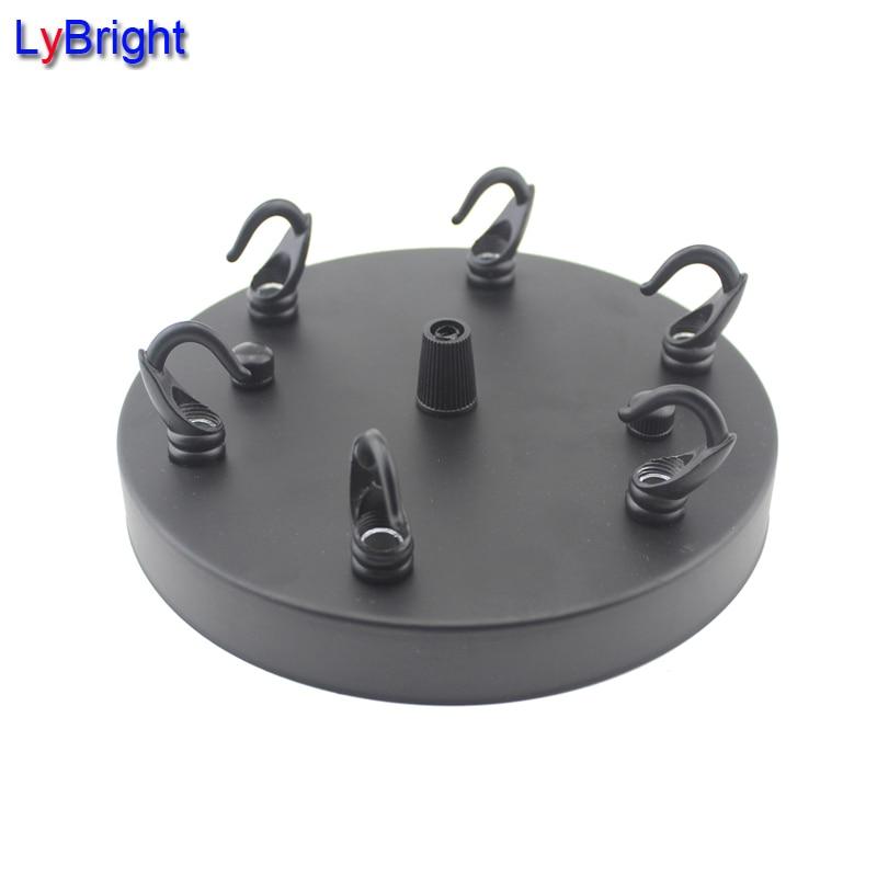 Diameter 15cm 6 Hooks Pendant Light Iron Ceiling Plate