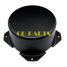 GD PARTS 90 ミリメートルラウンド黒鉄三極トランスカバーケースボックスヴィンテージチューブアンプハイファイオーディオdiy