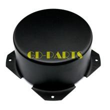 GD PARTS 90mm Runde Schwarz Eisen Triode Transformator Gehäuse Abdeckung Fall Box Für Vintage Rohr Verstärker Hifi Audio DIY
