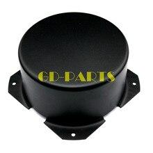 GD PARTS 90mm עגול שחור ברזל טריודה שנאי מארז כיסוי מקרה תיבת בציר צינור מגבר Hifi אודיו DIY