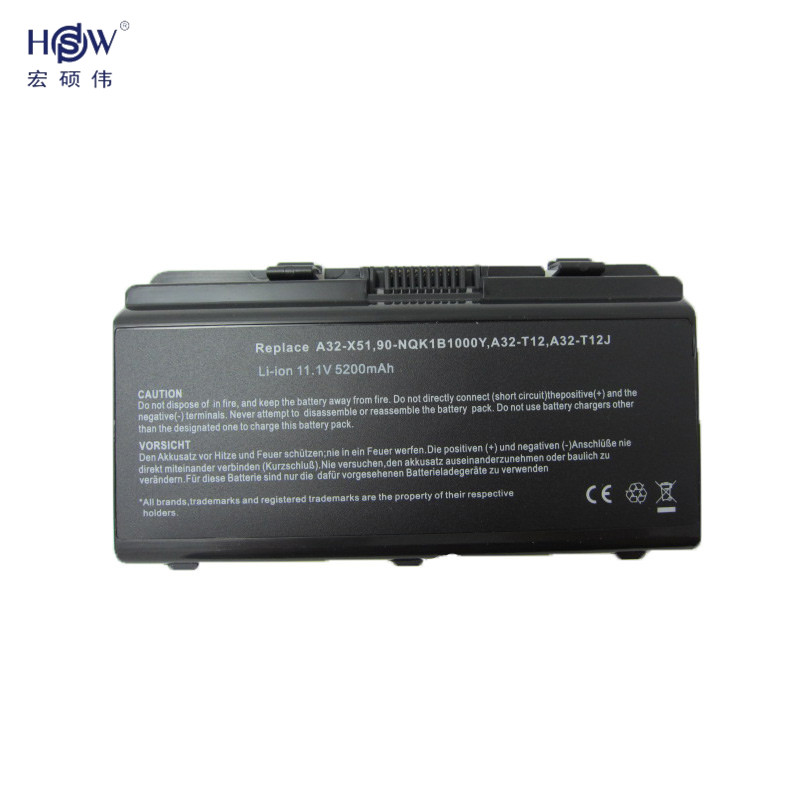 HSW battery for asus A31 T12 A32 T12 A32 X51 T12 T12C T12Er T12Fg T12Jg T12Mg T12Ug X51H X51L X51R X51RL X58 X58C X58L battery in Laptop Batteries from Computer Office