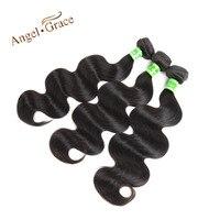 MELEK GRACE Moğol Saç Vücut Dalga 3 Paketler Natural Color İnsan Saç Dokuma Paketler Remy Saç Uzantıları Ücretsiz Nakliye