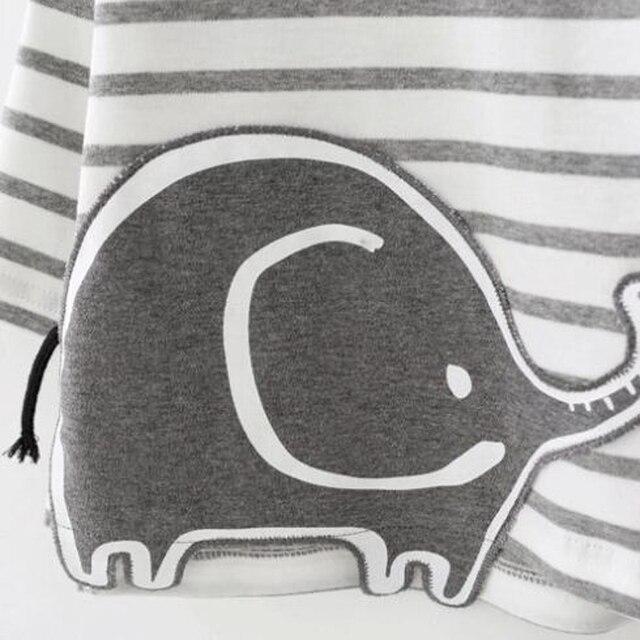 Conjunto de bebé 2 piezas elefante rayas 1