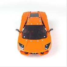 цена на 1PCS 1:16 Alloy Assembled Remote Control Car Model 4-Channel Remote Control Racing Car Diy Assembled Car Module Children's Toys