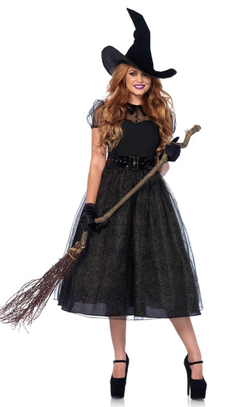 MOONIGHT Women Witch Costume Adult Women Magic Moment Costume Witch Halloween Fancy Dress