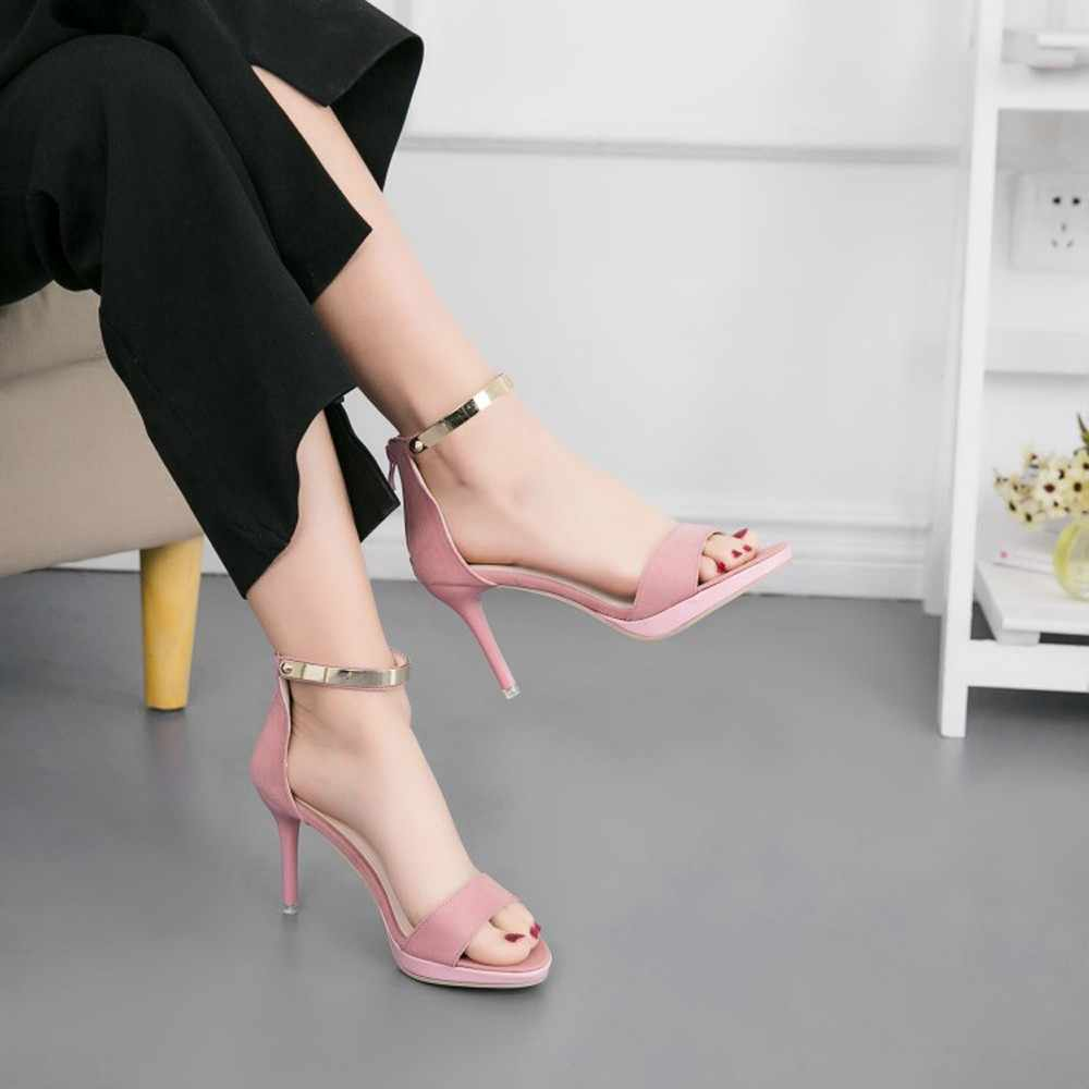 YOUYEDIAN Fashion pumps women 39 s shoes Round Toe Buckle Strap Comfortable Work High Heel Party Shoes tacones mujer sapato#g30