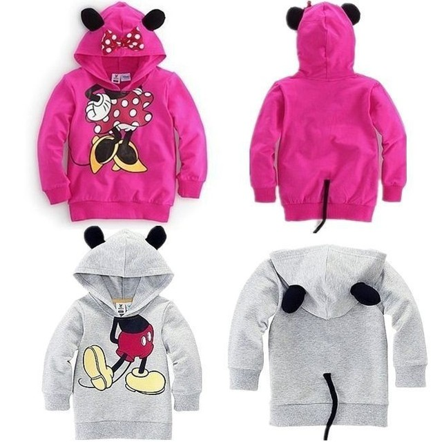 Free shipping baby clothing children Boy Girls sweater Hoodies Mickey Minnie Sweatshirts Mouse Cartoon Top Kids