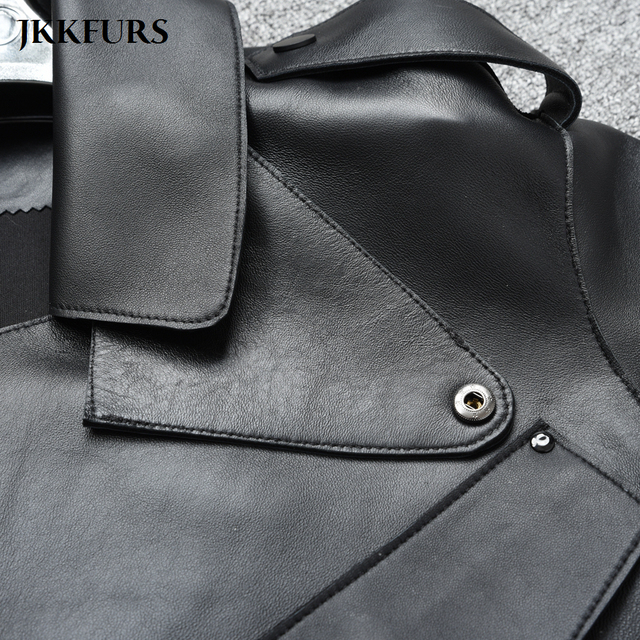 8 Colors Women's Genuine Leather Jacket New Fashion Real Leather Coat Lady 2020 Spring Sheepskin Leather S7547