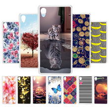 3D DIY Soft Silicone Case For Sony ZR Case Coque For Sony Xperia ZR M36h C5502 C5503 Cover Painted Case Bag Capa Fundas Housing