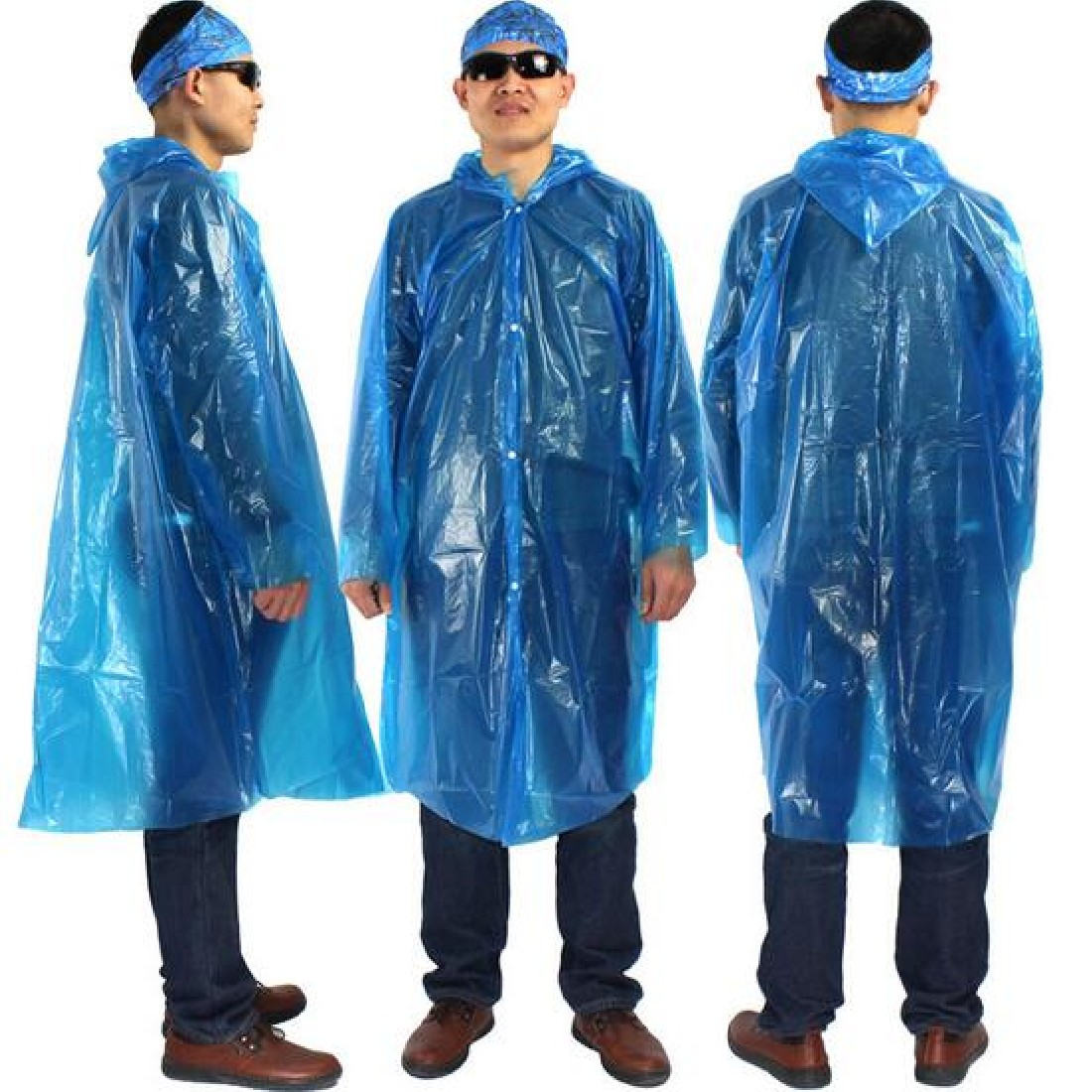 Outdoor rain jacket Travel Camping Emergency Disposable Raincoat Adult Unisex One-off Waterproof Raincoats Hood Random Color