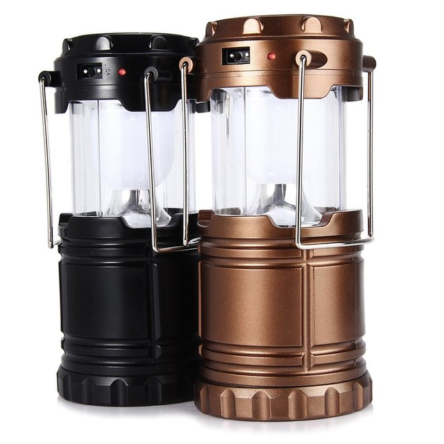 6 LED Hand Lamp Portable Led Light Solar Collapsible Camping Lantern ...