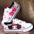 Venta caliente de Las Mujeres de Los Hombres Zapatos de Lona Ocasionales Mujer Zapatos de Moda Pintado A Mano Zapatos Planos Lindos zapatos de Mujer Chaussure Homme