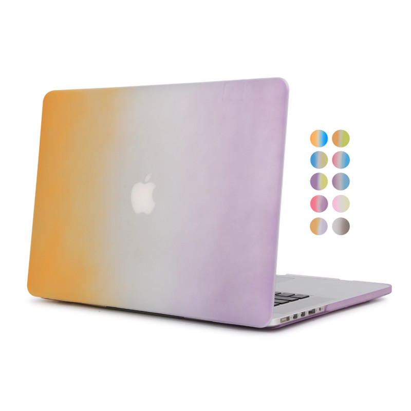 for macbook retina 13 rainbow case hard plastic full protective cover for apple mac book ...