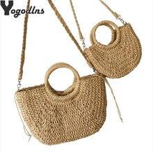 Sacs à main en paille pour femmes sacs de plage d'été Vintage décontracté épaule femmes sacs haute capacité fourre-tout sacs de forme ovale