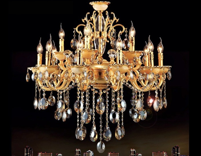 Free Shipping European-style Luxury Crystal Chandelier Lamp Zinc Alloy Chandeliers For Home Hotel Decoration Chandelier luxury european crystal alloy wall lamp lighting for bedroom living room home decoration free shipping wll 94