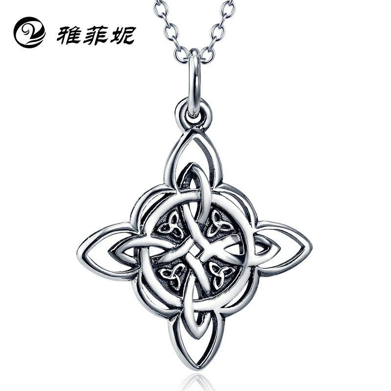 Celtic knot pendant silver ornament Restoring ancient ways is euramerican female sautoir undertakes to wholesale celtic patterns to colour