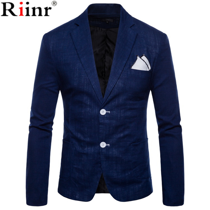 2019 Spring And Autumn Large Size Men's Casual Flow Of Pure Color Blazers Men High Quality Gentleman Men Slim Casual White Suit
