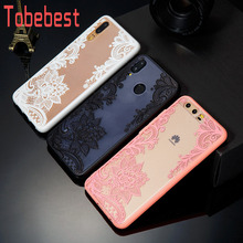 Sexy Lace Flower Floral Phone Case For Huawei P20 Lite/P20/P10/P10 Lite/P10 Plus/P9/P9 Lite/P8 Lite 2017 Hard PC+TPU Back Cover цены онлайн