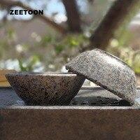 90ml Natural Medical Stone Teacup Chinese Health Care Longevity Cup Kung Fu Tea Set Pu'er Tea Bowl Master Cup Antique Home Decor
