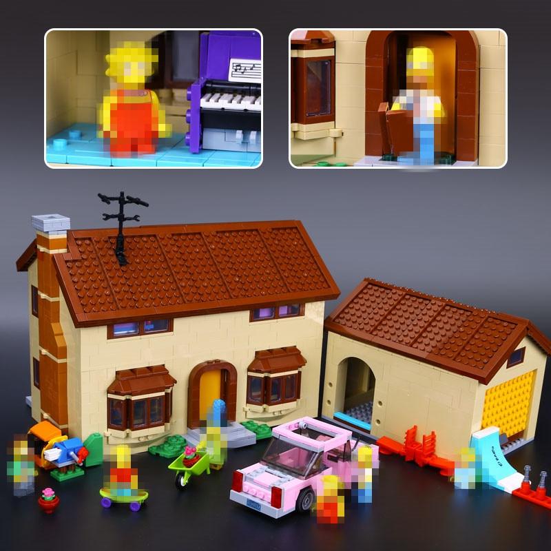 New 2575Pcs Lepin 16005 Simpson's family Kwik-E-Mart Set Building Blocks Bricks Toys  71006 inew 2575pcs lepin 16005 simpson s family kwik e mart set building blocks bricks educational toys 71006 funny children diy gift