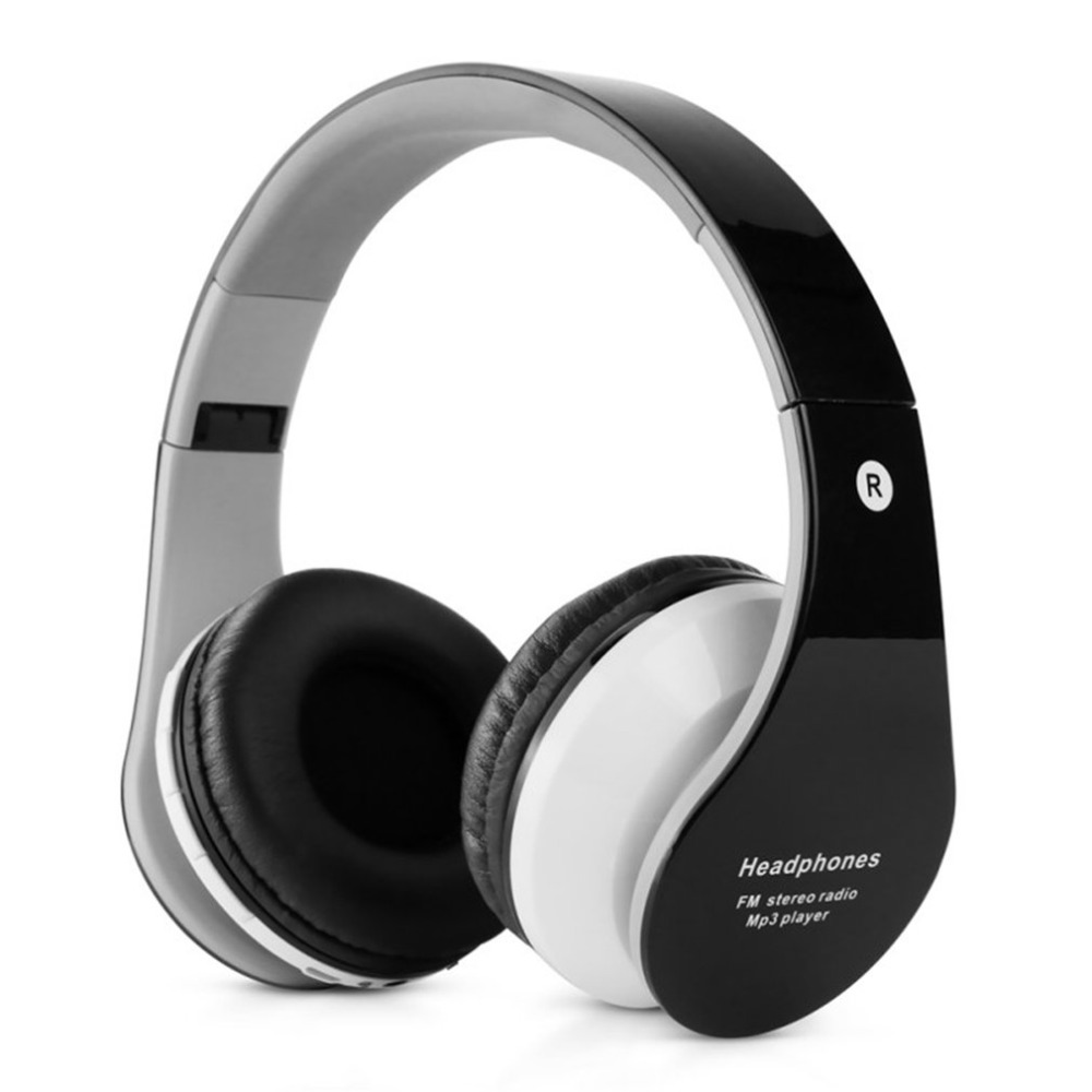 B-01 Stereo Bluetooth Headphone Support TF Card FM Radio Microphone Foldable Earphone Compatible with Android with IOS Phone Наушники