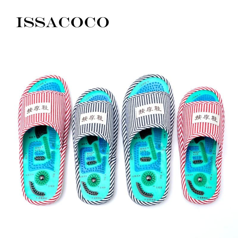 ISSACOCO 2018 Sepatu Pria Sandal Sandal Acupoint Pijat Kaki Rumah - Sepatu Pria - Foto 6