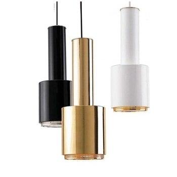 1 szef Nordic Artek Plated Metal Led E27 wisiorek światła H44cm malowany Metal jadalnia jadalnia wiszące lampa wisząca 4 kolory