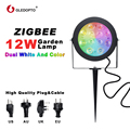 GLEDOPTO ZIGBEE licht link LED garten lampe im freien licht 12 W RGB CCT warm weiß AC110-240V arbeit mit Amazon alexa echo ZIGBEE3.0