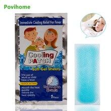 5 мешков охлаждающие Пластыри для детей, медицинский пластырь, мигрень, накладка на глаза от головной боли, более низкая температура, ледяной гель, полимер, гидрогель D1726