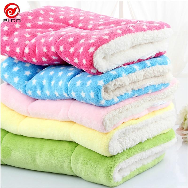 100*75cm Winter Lovely Pet Cushion dog Mat Warm Star Print Puppy Fleece Mattress small dogs Blanket Bed Cat Pad ZL289-1 mattress