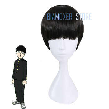 Biamoxer New Mob Psycho 100 Shigeo Kagey Cosplay Wigs Short Black Heat Resistant Synthetic Hair Perucas Cosplay Wig - DISCOUNT ITEM  30% OFF All Category