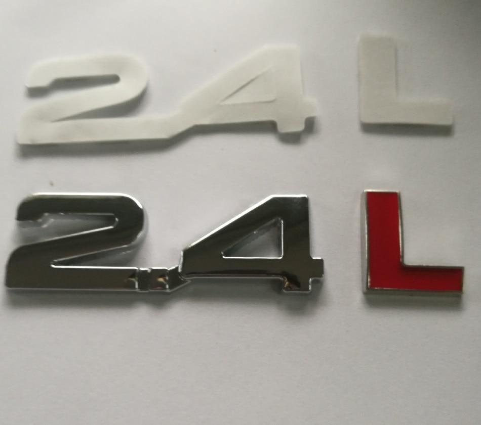 Новейшие металлические 2.4L символы автомобиля Turbo двигатель задний багажник эмблема значок наклейка