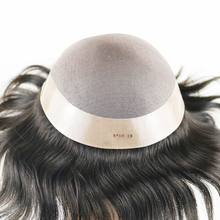 SimBeauty Mens Toupee Fine Mono Poly Coating Hairpieces Durable Hair Replacements Systems for Men