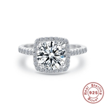 ROXI Classic 925 Sterling Silver Ring 1.88Ct Zircon Wedding Jewelry Rings Engagement For Women silver 925 Jewelry Size 4.5-11