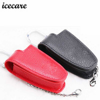 Icecare Genuine Leather Car Key Cover Shell Wallet For Mercedes B C E S GLK300 R350L