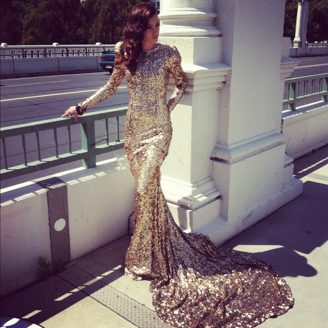 Popular Gold Sequin Dress Long Sleeve-Buy Cheap Gold Sequin Dress ...
