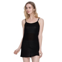 100% Pure Silk Women's Full Slips Femme Elastic Underskirt Women Sexy Petticoat Fashion Woman Sleep Underdress Female Lingerier