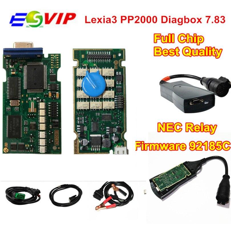 Lexia profesional Lexia3 PP2000 Chips completa con Diagbox V7.83 Lexia 3 Firmware Serial No. 921815C herramienta de diagnóstico