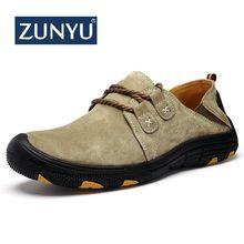 ZUNYU новые мужские, повседневные, пропускающие воздух мягкие ручной работы кожаные туфли для взрослых удобная обувь для вождения мужские уличные кроссовки размер 38-48