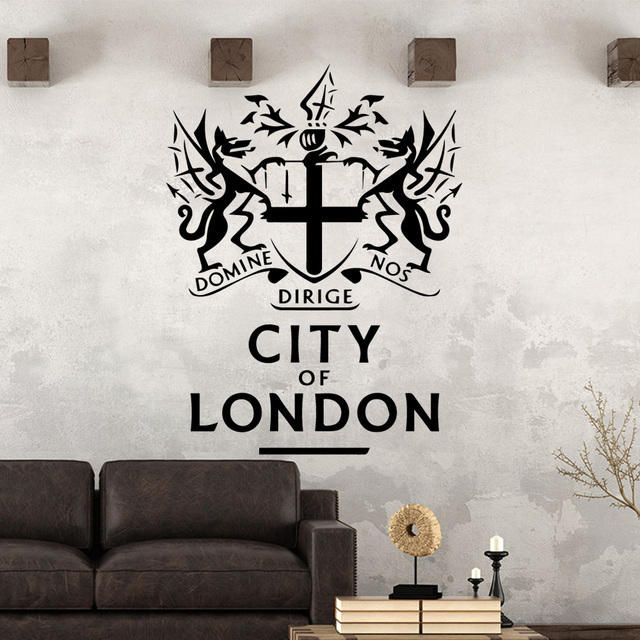 Funny City London Environmental Protection Vinyl Stickers For Living Room Company School Office Decoration Wall