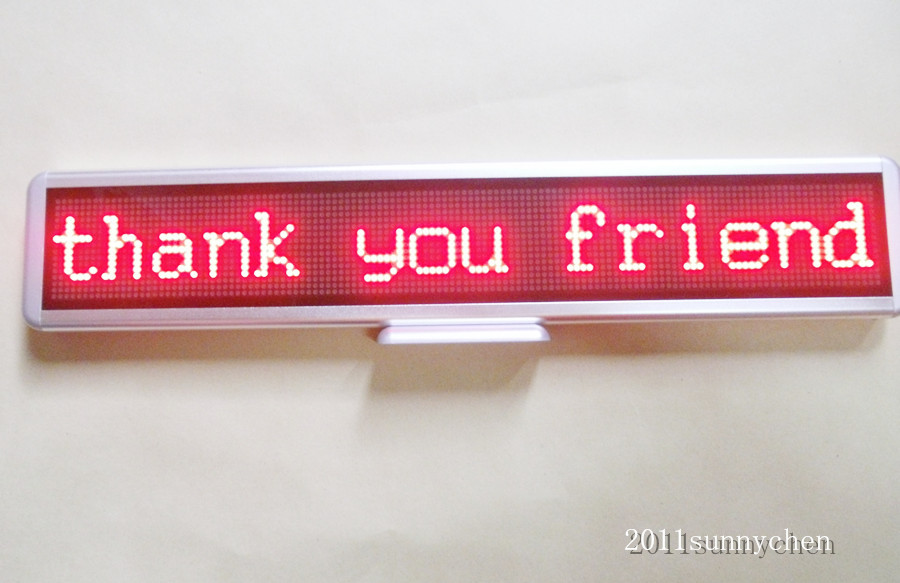 """Фото 21""""x4"""" Red Programmable LED Moving Scrolling Message Display Sign Indoor Board"""