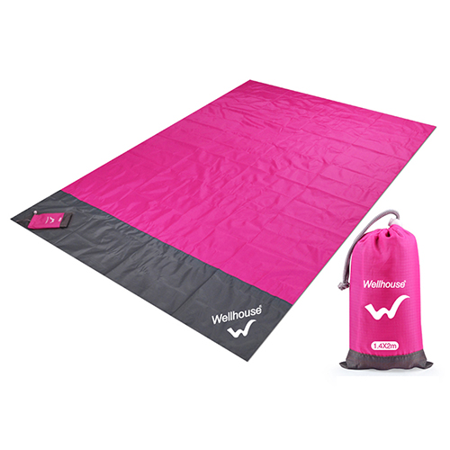 Походный коврик, водонепроницаемое пляжное одеяло, портативный коврик для пикника, коврик для пикника на открытом воздухе, коврик для пикника, одеяло, 1,4*2 м - Цвет: rose red